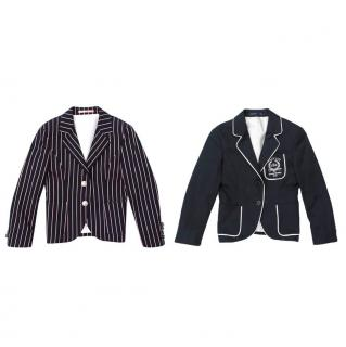 Hackett Kids Navy And Pin Stripe Blazer Set