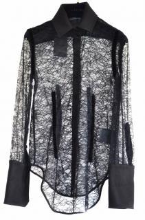 Alexander Wang black lace blouse