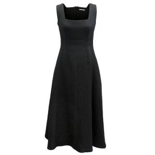 Emilia Wickstead Black Zigzag Dress