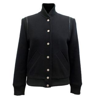 Academia Black Bomber Jacket
