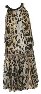 Giambatista Valli Silk Leopard Print Dress. Size S