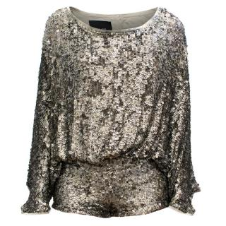 Jay Ahr Sequin Playsuit