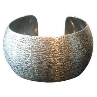 Sterling Silver Structured Bangle