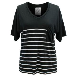 Zoe Karssen Black Stripes T-Shirt