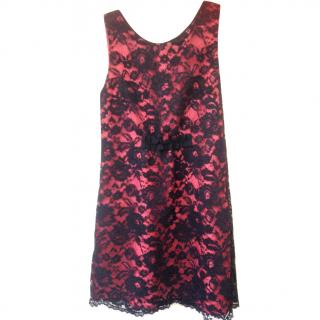 Moschino cheap and chic red lace dress size 12