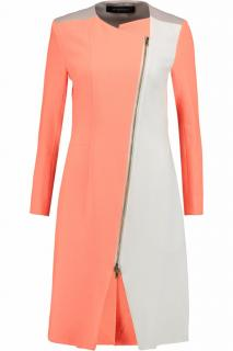 ROLAND MOURET Darton Color-Block Crepe Coat