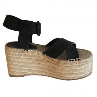 Celine Navy Cross Sandals