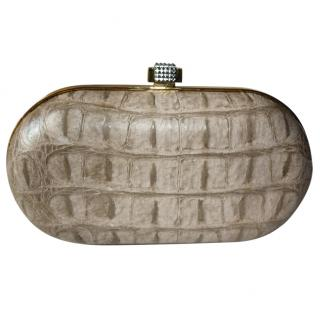 Stark at Harrods Exotic Leather Swarovski Clutch Bag