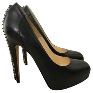 Brian Atwood black platform shoes