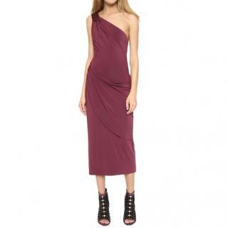 Tamara Mellon Asymmetric Jersey Dress Red