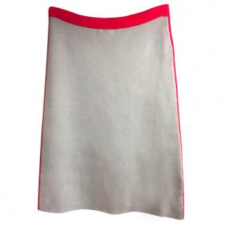 JONATHAN SAUNDERS Grey/Red Knee Length Skirt