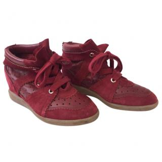 Isabel Marant  Bobby Trainers Red