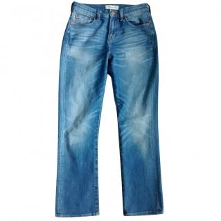 Madewell kick out crop flare high rise jeans in Thom wash 25
