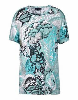 Jonathan Saunders Green Printed Stretch-Jersey T-Shirt