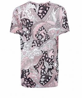 Jonathan Saunders Pink Printed Stretch-Jersey T-Shirt