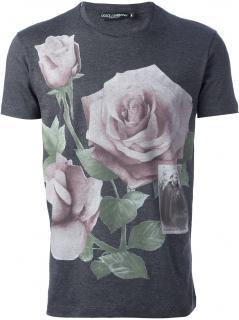 Dolce & Gabbana Rose print tshirt