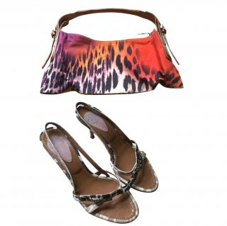 Just Cavalli set of handbag and sling back sandals