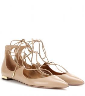 AQUAZZURA leather ballet shoes