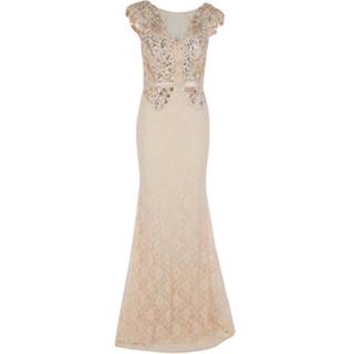Forever unique nude lace embellished dress