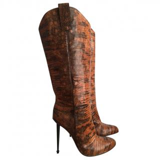 Tom Ford Tejus leather western-cut stiletto boots