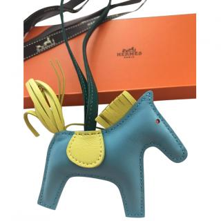 Hermes Rodeo PM Celeste/LIME/MALACHITE/POPPY