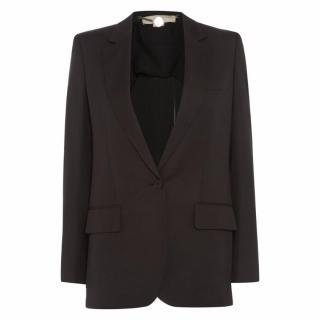 Stella McCartney Fringe Back Single-Button Blazer