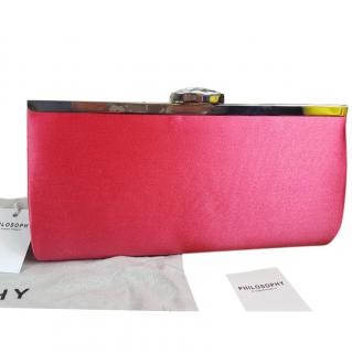Philosophy Clutch Handbag Pink