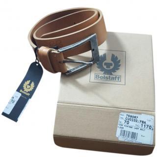 Belstaff Leather Tan Brown Belt