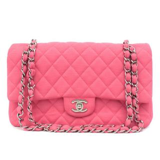 Chanel Pink Jersey Double Flap Bag