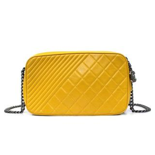 Chanel Yellow Camera Cross Body Bag