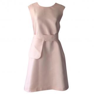 Emilia Wickstead Pink Trapeze Belted Dress