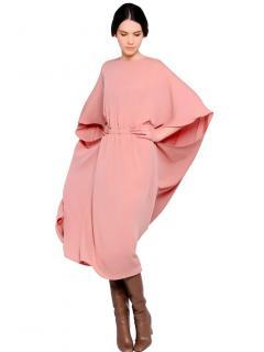 Valentino Pink Cape Dress