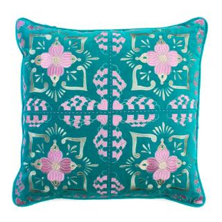 Elizabeth Scarlett Blue Embroidered Cushion
