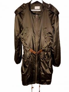 Massimo Dutti Front Zip Knee Length Coat Parka