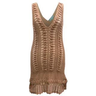 AK (Caroline S) Melissa Odabash Mocha Crochet Dress