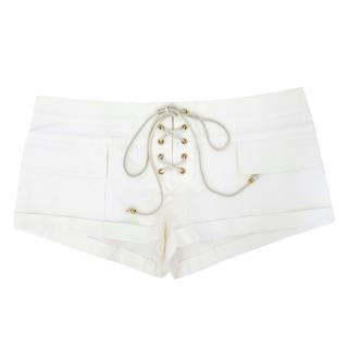 Emilio Pucci White Tie Up Shorts