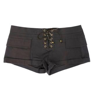 Emilio Pucci Charcoal Tie Up Shorts