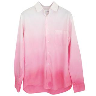 comme des garcon white fade to pink cotton shirt