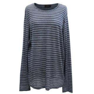 Joseph Blue Striped Top