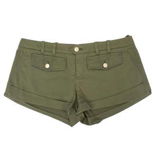 Gucci Army Green Short Shorts