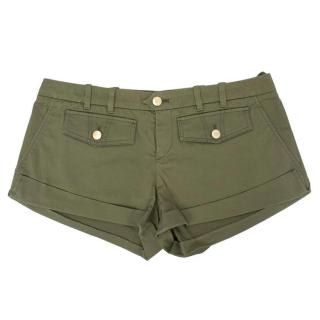 Gucci Army Green Short Shorts