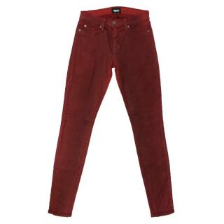 Hudson Red Coated Jeans