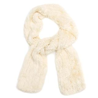 Cassin New York Cream Fur Scarf