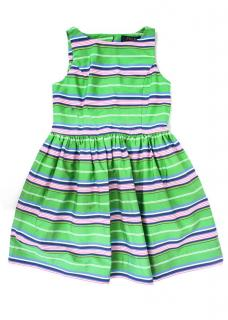 Polo Ralph Lauren Green Striped Kids Dress