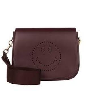 Anya Hindmarch burgundy Ebury Smiley satchel bag