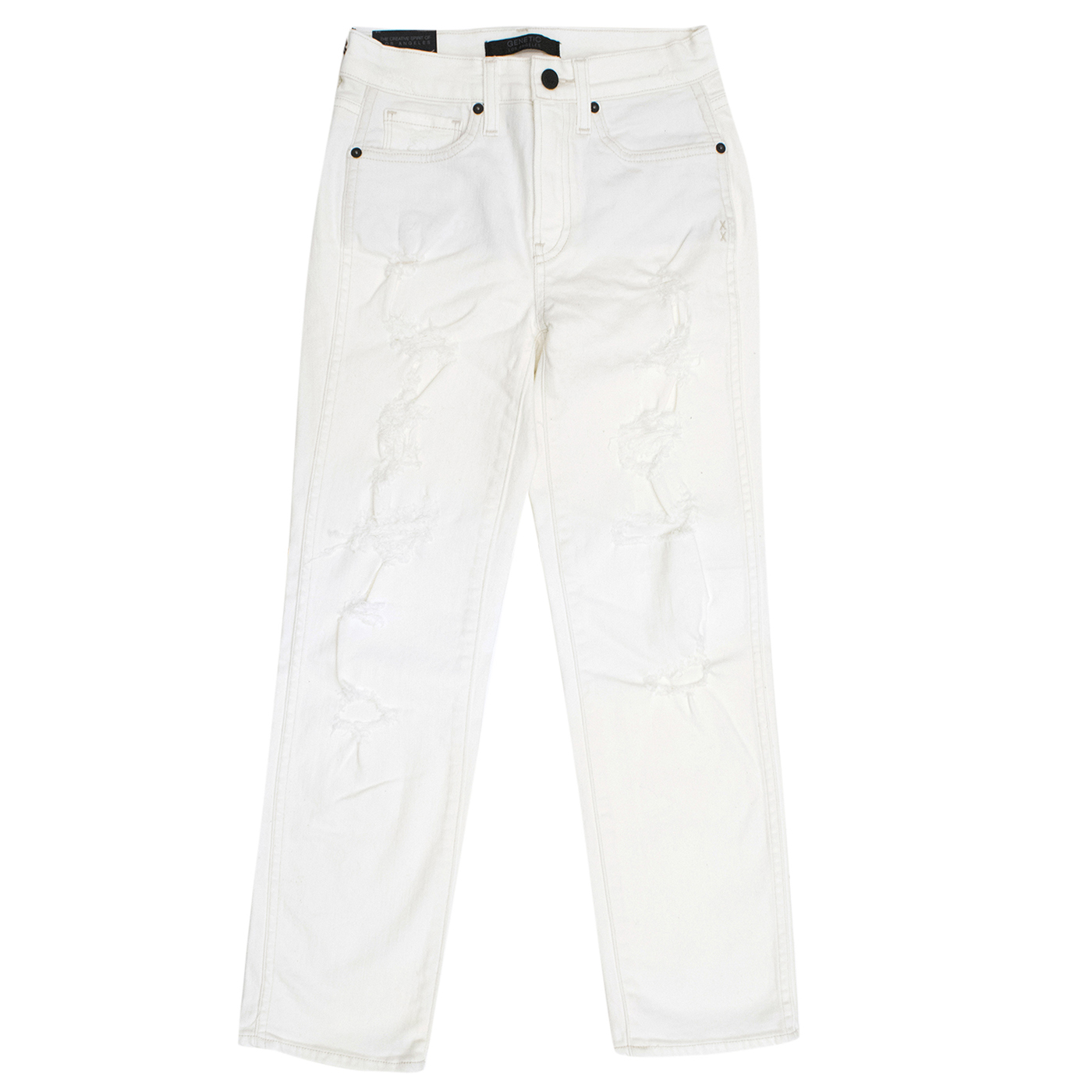 Genetic White Distressed Jeans