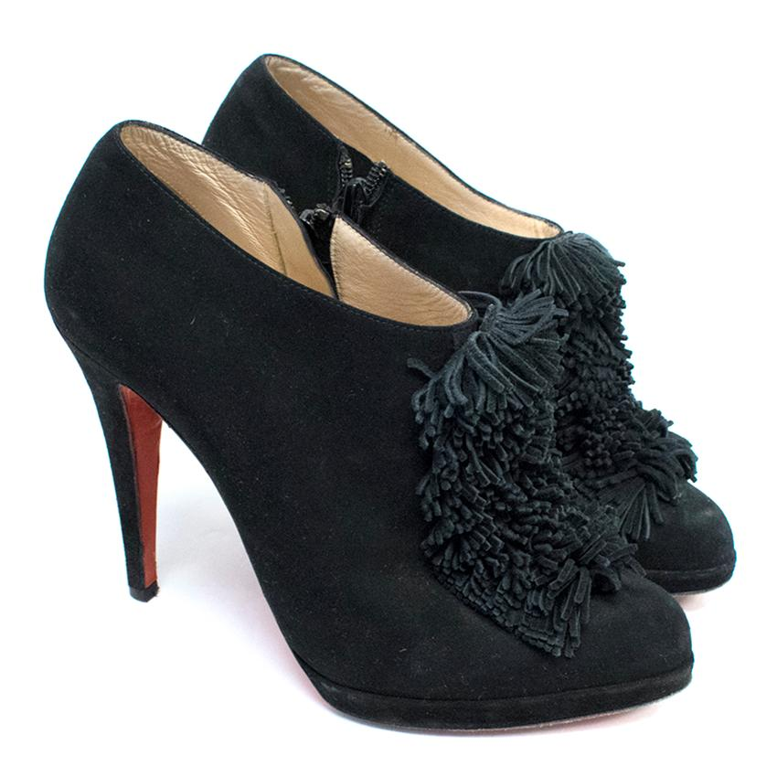 Christian Louboutin Moulage Black Ankle Booties