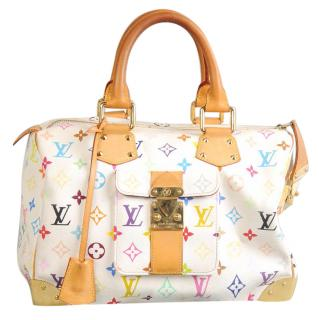 White Monogram Multicolore - Speedy 30