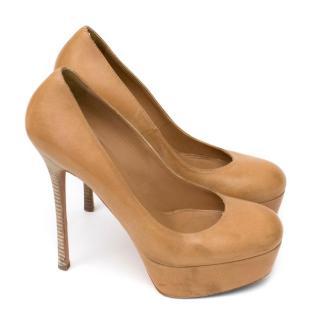 Alexander McQueen Tan Leather Heels