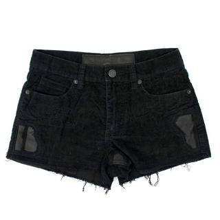 Zadig and Voltaire Delux Black Corduroy Shorts